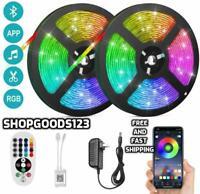 Led Strip Lights For Room Bluetooth,32.8Ft Rgb 5050 Led Light Strip Color Change