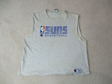 VINTAGE Champion Phoenix Suns Shirt Adult 2XL XXL Gray Basketball Mens 90s *