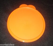 New Tupperware Orange Round Replacement Cereal Bowl Lid Size C 3131A-1