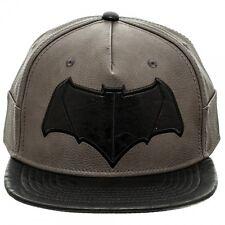7da4cc707d6 OFFICIAL DC COMICS BATMAN V SUPERMAN BATMAN SYMBOL PU GREY SNAPBACK CAP  (NEW)