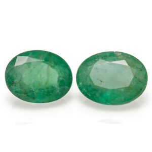 Pair of Emeralds 2.91ct. Mined in Brazil with great colour and clarity.