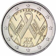 Frankreich Münze 2 Euro Welt Aids Tag Stgl Gedenkmünze 2014 Prägefrisch