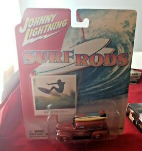 JOHNNY LIGHTNING 1940 panel delivery truck surf rods Zuma Tuberiders  1/64 NEW