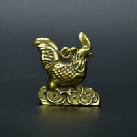 Chinese old collection handwork bronze Cock Yuanbao statue Pendant