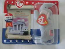 McDONALDS AMERICAN TRIO BEANIE BABY 1996 - RIGHTY the ELEPHANT SEALED PACKAGING