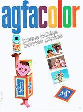 Publicité Advertising 058  1963   Agfa  film bobine agfacolor nagativfilm