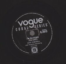 """Don Cornell I 'm Blessed/Hold My Hand 78 RPM VOGUE Coral 10"""" GOMMA LACCA"""