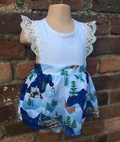 Baby Girls Tutu Romper Skirt Dress Xmas Christmas Outfit 0-3 3-6 6-12 12-18m