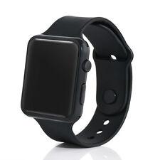 UK LED Watch Sports Silicone Rubber Digital Unisex Women Men Girls Boys Gifts Black
