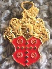 Vintage Packard Automobile Keychain Fob Part Eight Twelve Emblem Badge Holder