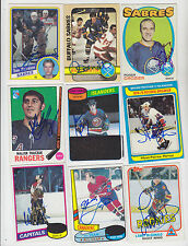 1980-81 TOPPS SIGNED ALL STAR CARD GUY LAFLEUR CANADIENS NORDIQUES RANGERS # 82