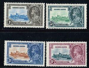 Sierra Leone SC# 166-169 VF Mint OG Never Hinged