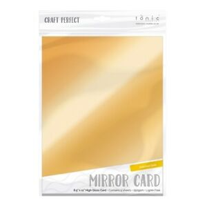 Craft Perfect A4 Mirror Cardstock Polished Gold  5pk