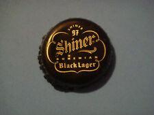 """BEER Bottle Crown Cap: """"SHINER Black Lager"""" Brewed by Spoetzl Brewery ~<>~ TEXAS"""