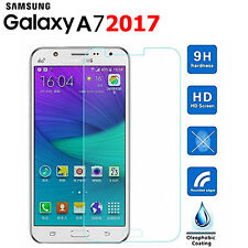 Tempered Glass FORNT Screen Protector LCD Film for Samsung Galaxy A7 2017 Model
