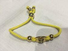 Juicy Couture Nuevo Y Genuino Amarillo/Oro Amistad Pulsera con el logotipo de corona