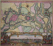 Straßburg - Strasbourg, ville ancienne... - Seltene Stadtansicht v. Seutter 1740
