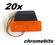 20 pcs Orange Side Marker LED Lights 24V Amber Indicator Truck Lorry Bus Trailer