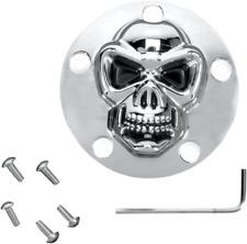 3-D Skull Points Cover Chrome Skull Harley Road King - FLHR 1999-2014