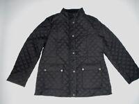 LUCKY BRAND Black Diamond QUILTED BARN JACKET Coat Womens Size MEDIUM  NEW
