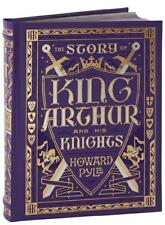 STORY OF KING ARTHUR AND HIS KNIGHTS ~ HOWARD PYLE ~ LEATHER BOUND ILLUS HC! NEW