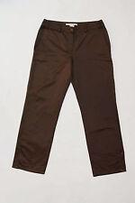 Le donne ROBERTO CAVALLI CLASS Pantaloni Gamba Dritta Shiny Brown ITALIA W30 UK12 I44