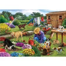Rectangular Jigsaw - Garden Dogs