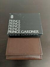 Vintage Prince Gardner Brown Leather Key Holder Trifold Original Box Never Used