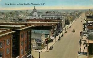 South Dakota, SD, Aberdeen, Main Street Looking South 1910's Postcard