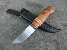 Custom fixed hunting knife in Scandinavian style. handmade from Russia.