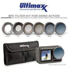 Ultimaxx Dji Osmo Action 8 Piece Filter Kit (Mcuv, Cpl, Nd4, Nd8, Nd16, Nd32)