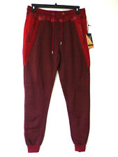 Faze 1 Mens Size X-Large Red Mesh & Trim Embellished Skinny Jogger Pants New