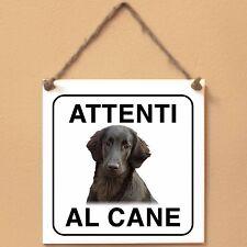 Flat Coated Retriever 5 Attenti al cane Targa cane cartello ceramic tiles