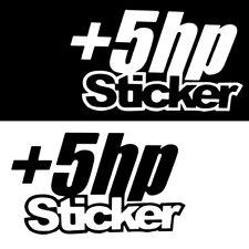 5+ HP Horespower HP Funny Car Sticker PET Decal JDM Dope Drift Window Trunk Hot