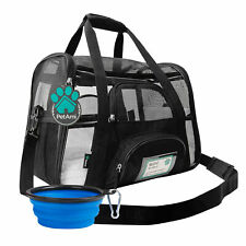 Pet Cat Dog Carrier Portable Transparent Puppy Cat Travel Handbag Shoulder Bag