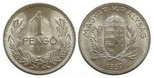 HUNGARY 1 PENGO 1939 SILVER KM510 UNCIRCULATED