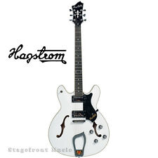 HAGSTROM VIKWHT VIKING SEMI-HOLLOW BODY GUITAR IN WHITE GLOSS WITH CASE - NEW