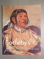 Sotheby 12/4/04 American Indian Portraits by G. Catlin