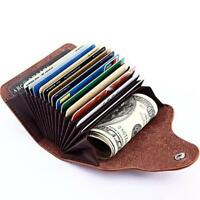 Portable Womens PU Leather Wallet Purse Case Credit Card Holder Small Wallet L