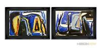 2 Bram Van Velde ORIGINAL Lithograph, 1975 LTD Ed. (2pc. Set) +++ Archival FRAME