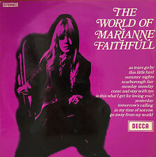 MARIANNE FAITHFULL The World Of Marianne Faithfull LP. 1969. Decca Label