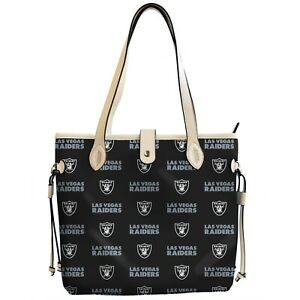 Las Vegas Raiders Patterned Tote Bag Handbag
