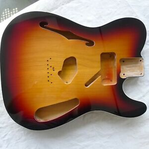 Tele Thinline Body 2 pcs North American Centre Joined Alder Semi Hollow Poly 3TS