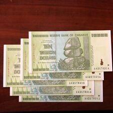 (5) 10 TRILLION ZIMBABWE DOLLARS 2008 AA NOTE  50 TRILLION ZIM UNCIRCULATED!