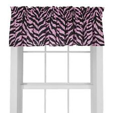 """Two (2) Pink Zebra Leopard - SAFARI - Valance/Drape Sets (Drape Length 63"""")"""