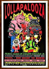 MINT & SIGNED Tool Rage Against The Machine 1993 Lollapalooza TAZ Poster 277/400