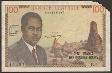 Cameroon P-10 / B304a 100 Francs AHIDJO 46487