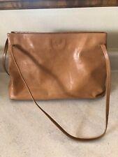 Monsac Tan Leather Handbag, Mint!