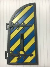 Playmobil Castle Spare Part Door Blue Yellow Stripe