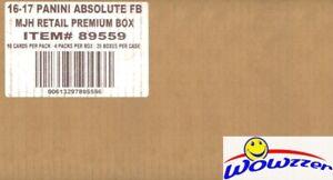 2016 Panini Absolute Football PREMIUM Factory Sealed 20 Box CASE-40 AUTO/MEM